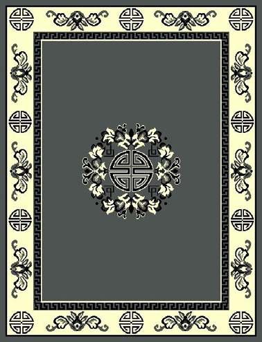 Floral Traditional Persian Design Grey 8 x 11 $99.9