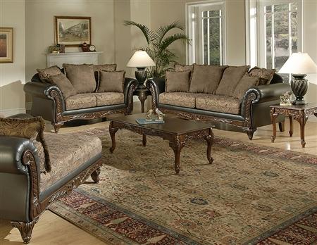 7685 San Marino Silas Raison Sofa and Loveseat Set $979