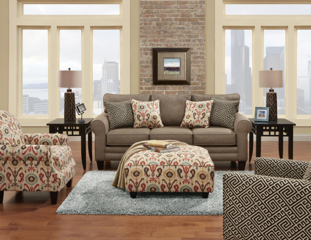 1141 Fusion Romero Badger Sofa and Loveseat $1195