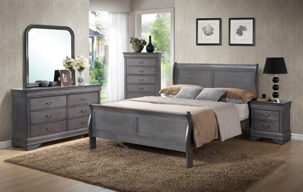 4934 Driftwood Gray Louis Philippe Bedroom~ Full $979.9
