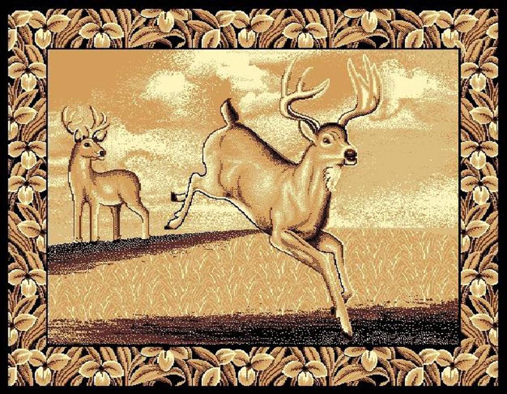 Deer Jumping Area Rug $59.9