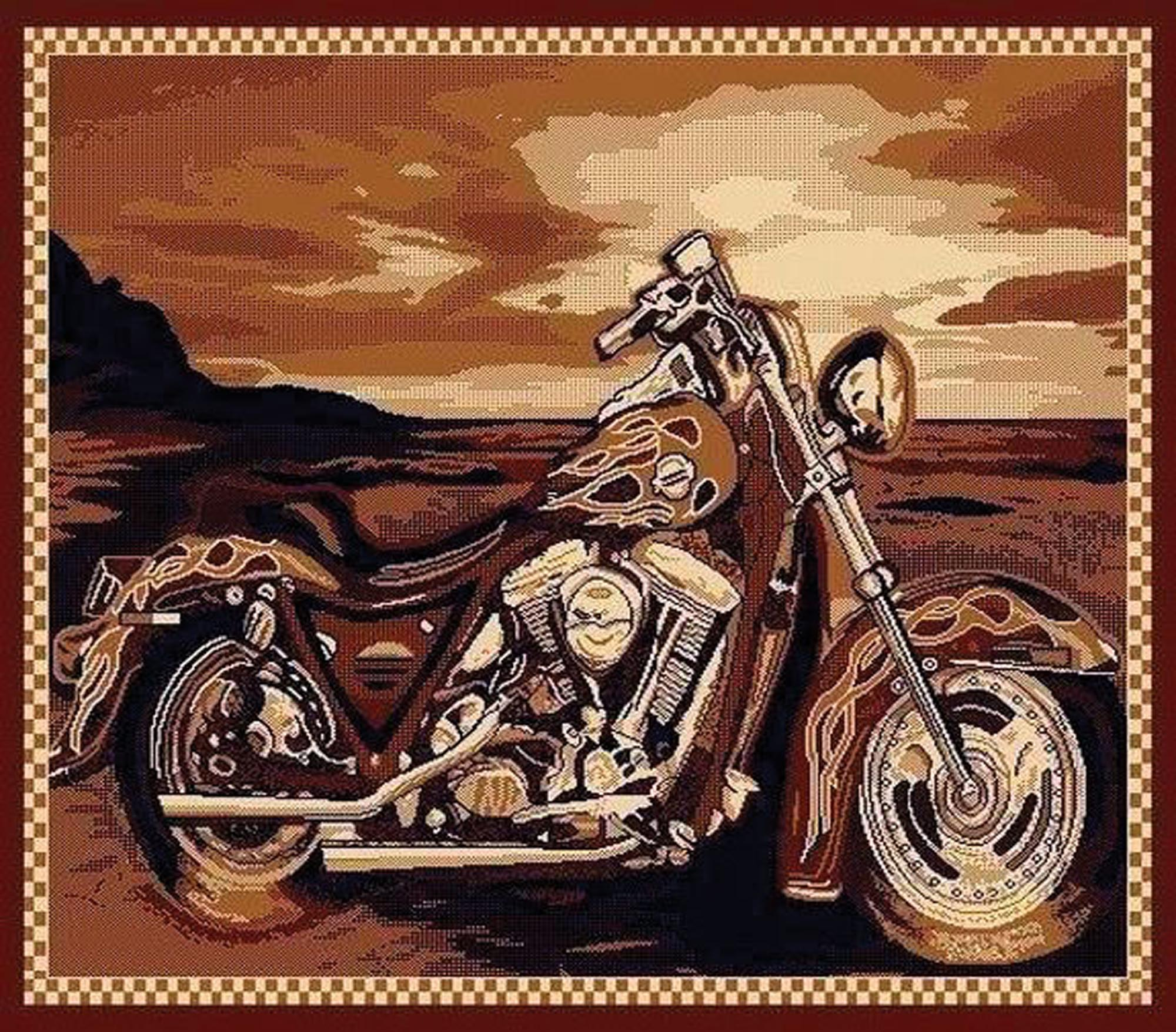 Motorcycle Area Rug  $69.95