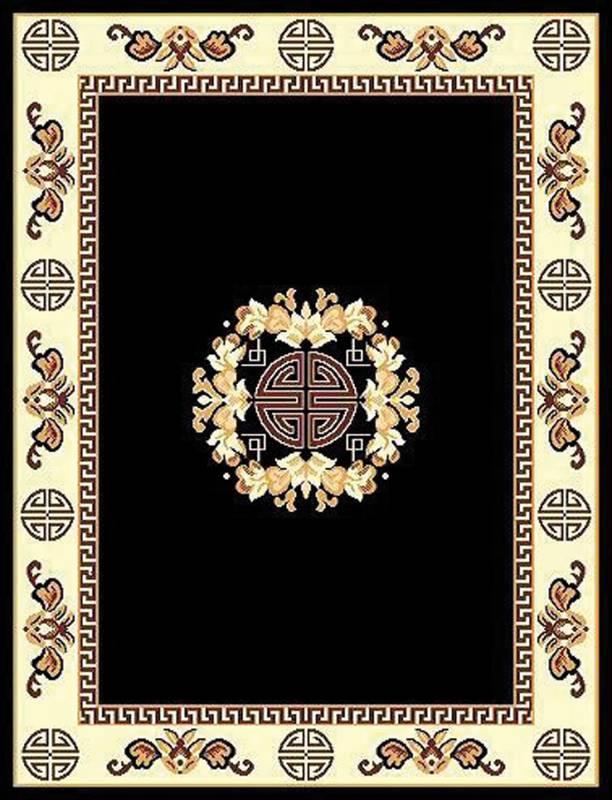 RT119 Tajmahal Area Rug (8' x 11') Black $79.9