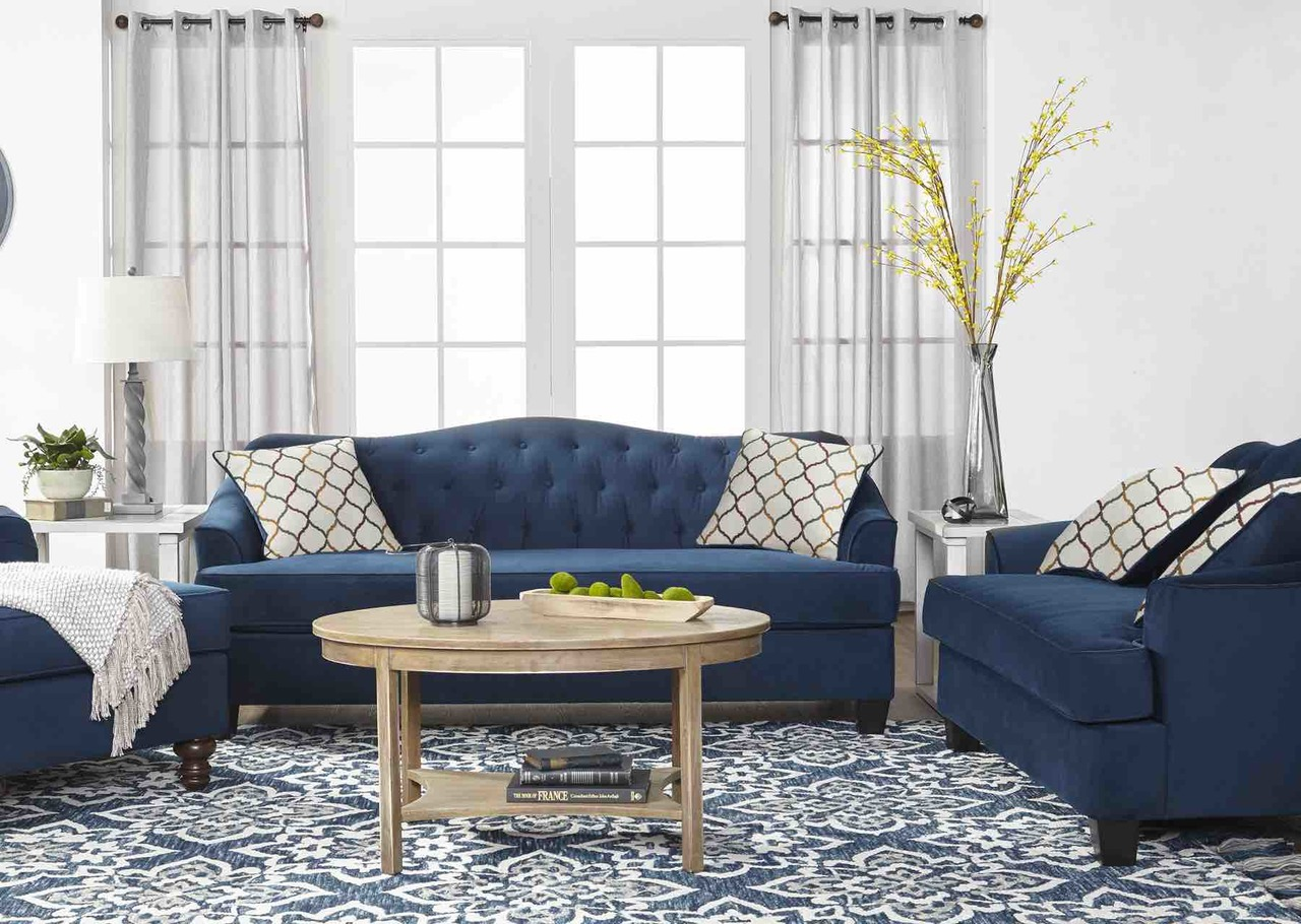 15700 Sofa & Loveseat: Bing Indigo $759.99