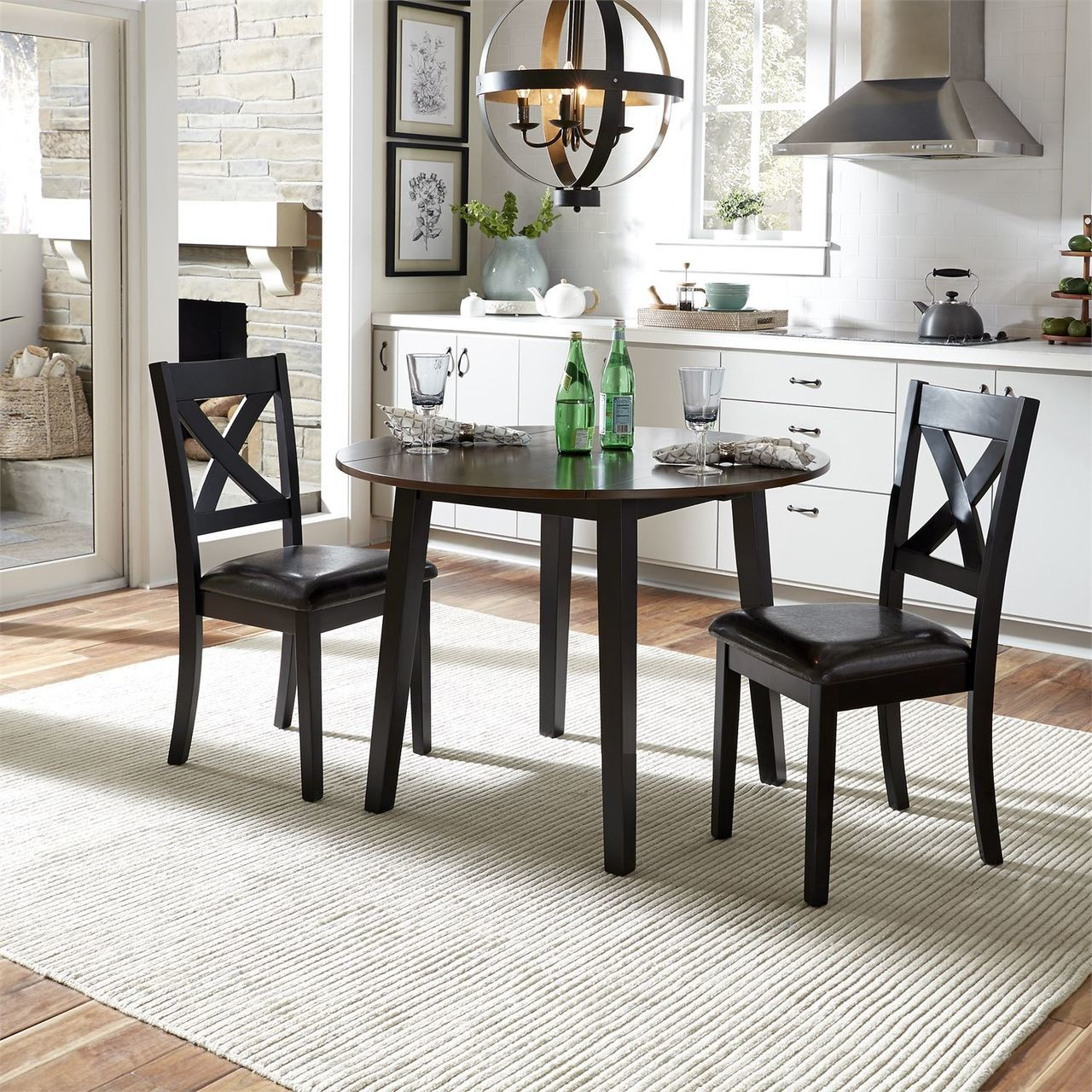 464 3 Piece Drop Leaf Table Set Dinette $395