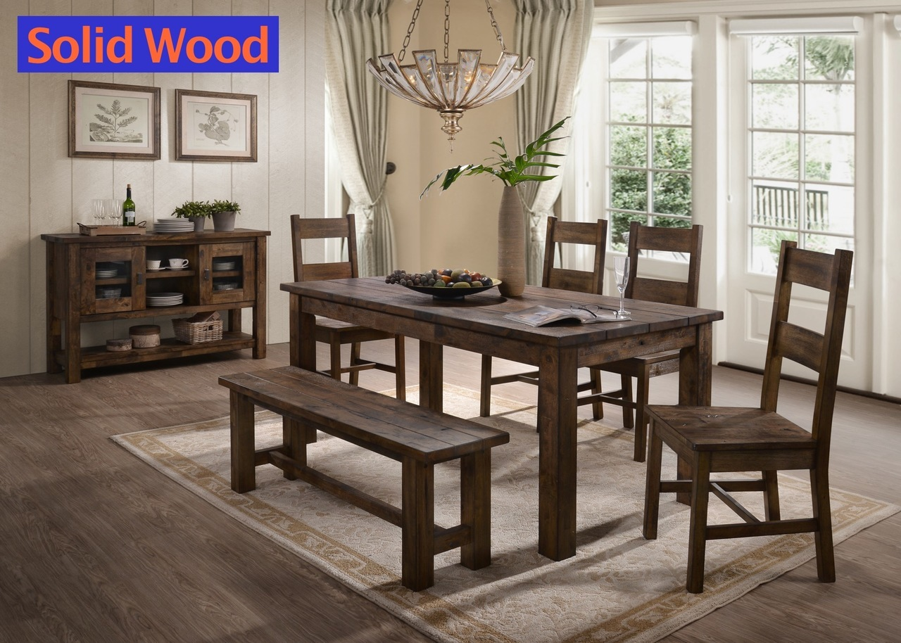 6377 Harrison Dinette - 6pc Set - Table, Bench, & 4 Chairs $639