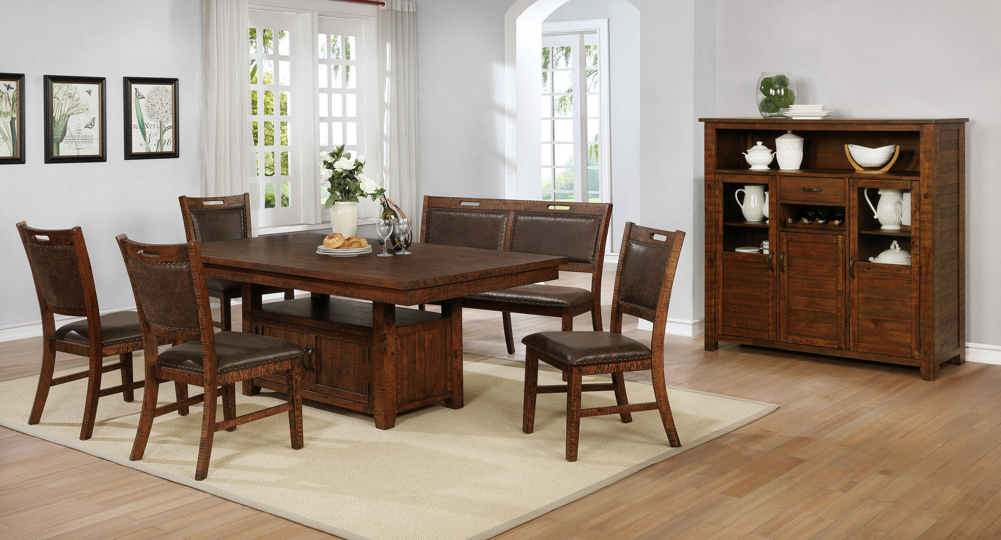 1842 Jonah 6pc - Table, Bench, & 4 Chairs $959.99