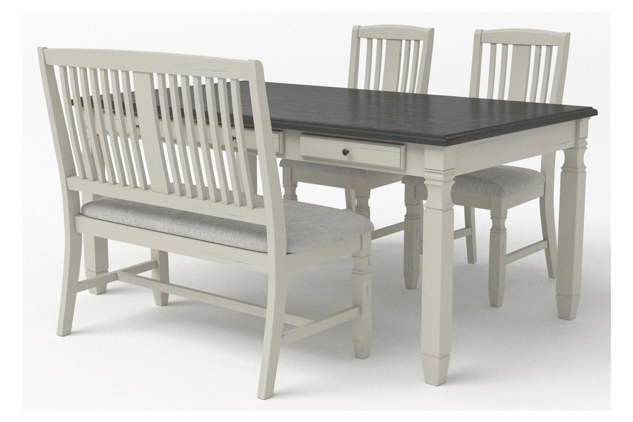 00041 Dinette: 6 Piece Dining Table, 4 Dining Chairs, and 1 Dining Backrest Bench $859.99
