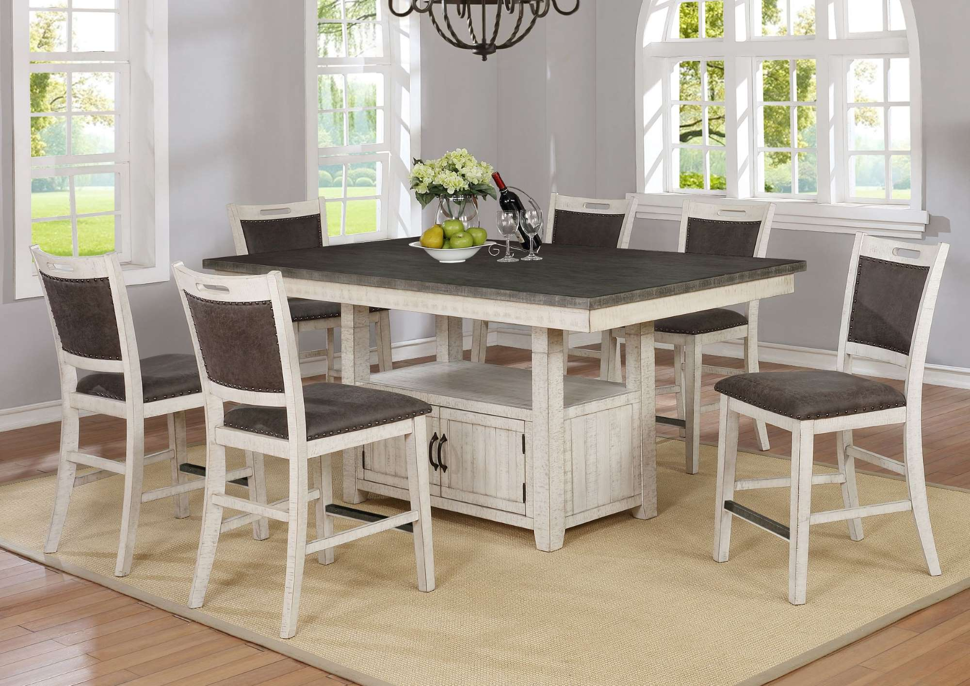 1852 Jonah Counter Height Table + 6 Stools $979.99
