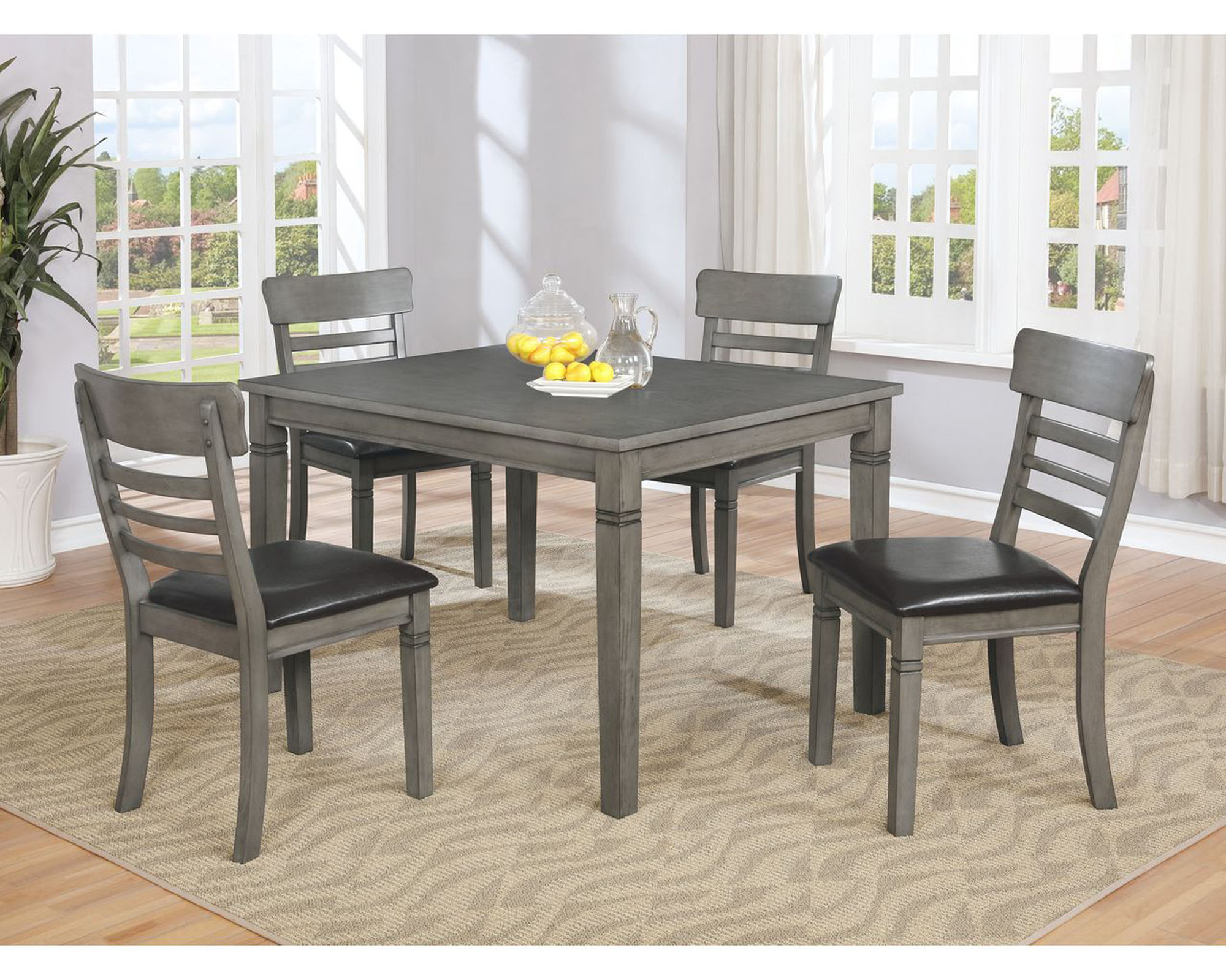 1744 Parker Grey 5pc Dining Set $479.99