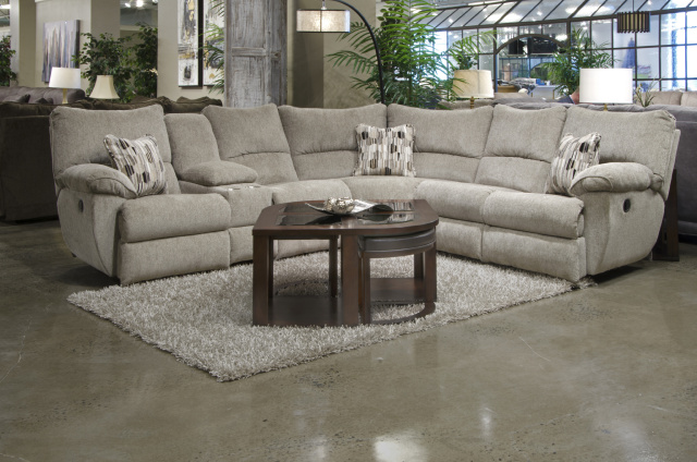 2250 Motion Sectional - 3 Recliners, 1 Console - Pewter $1489