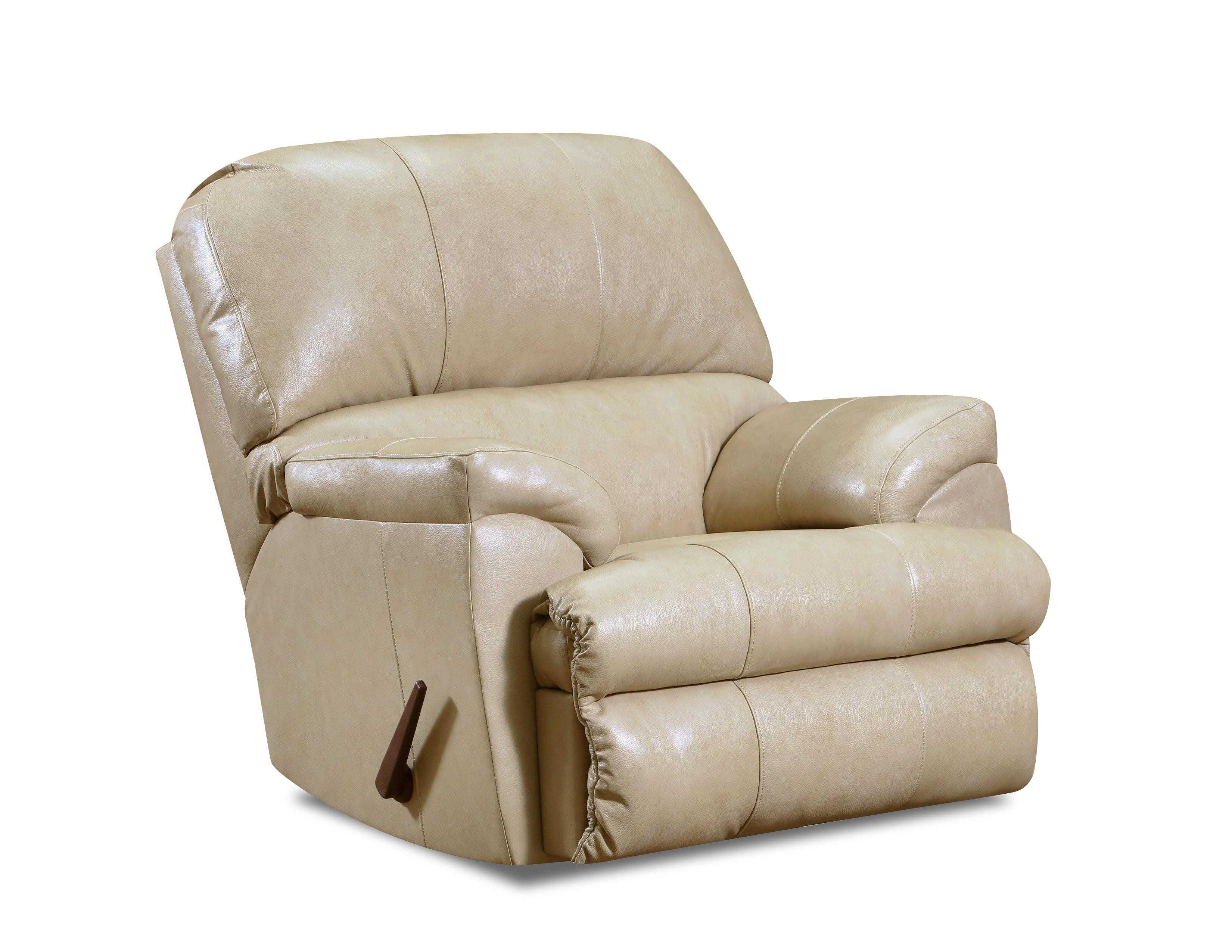 14010 LEATHER Touch Recliner in Soft Touch Putty $779.99
