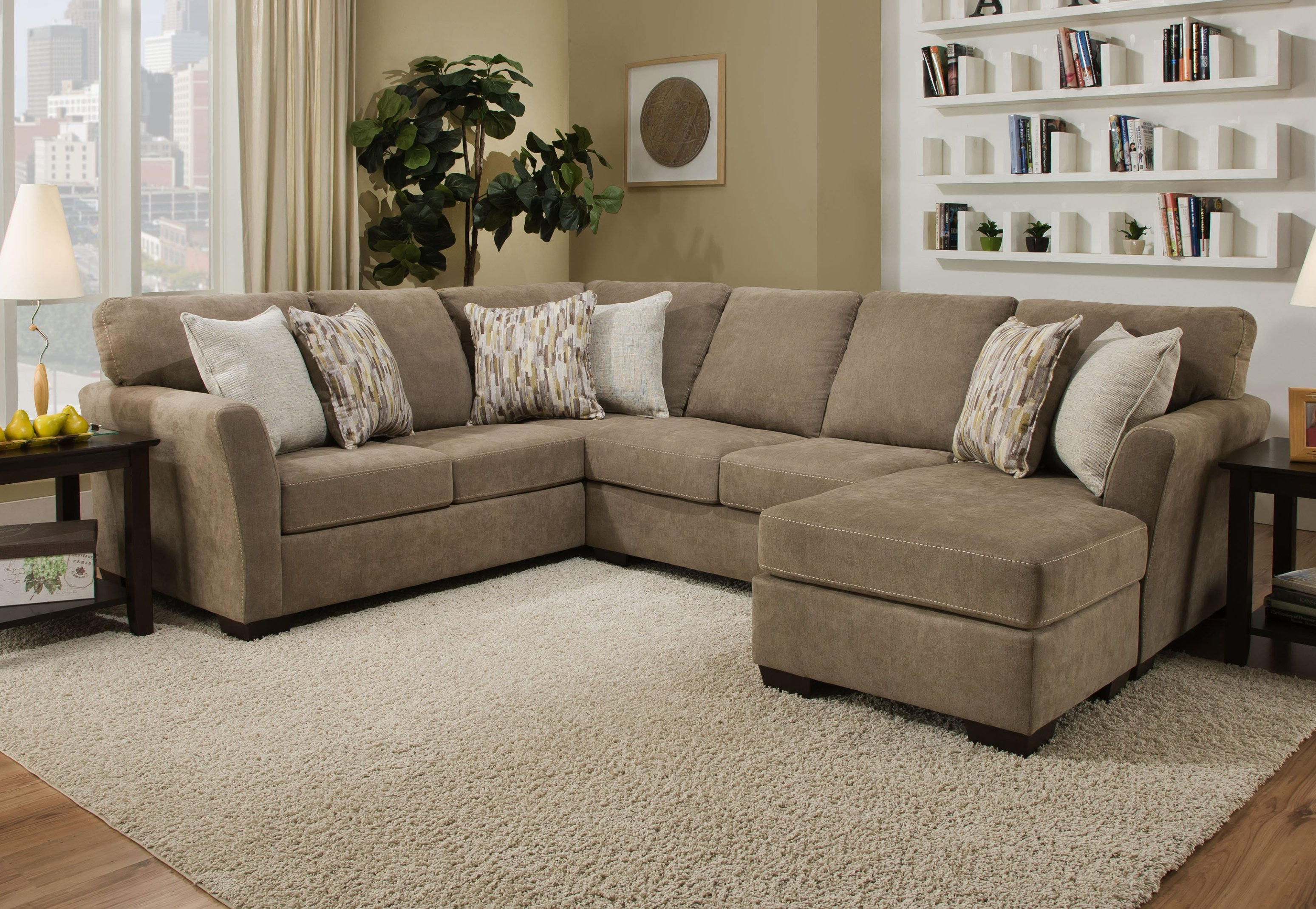 7058 Sectional with Reversible Chaise - Mocha $1219.99