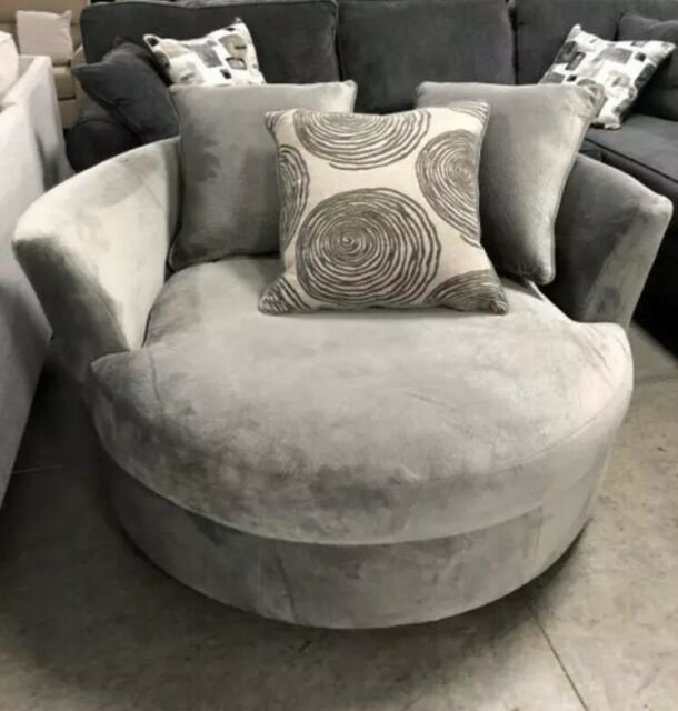 2240 Swivel Chair in Olympic Silver Fabric $599