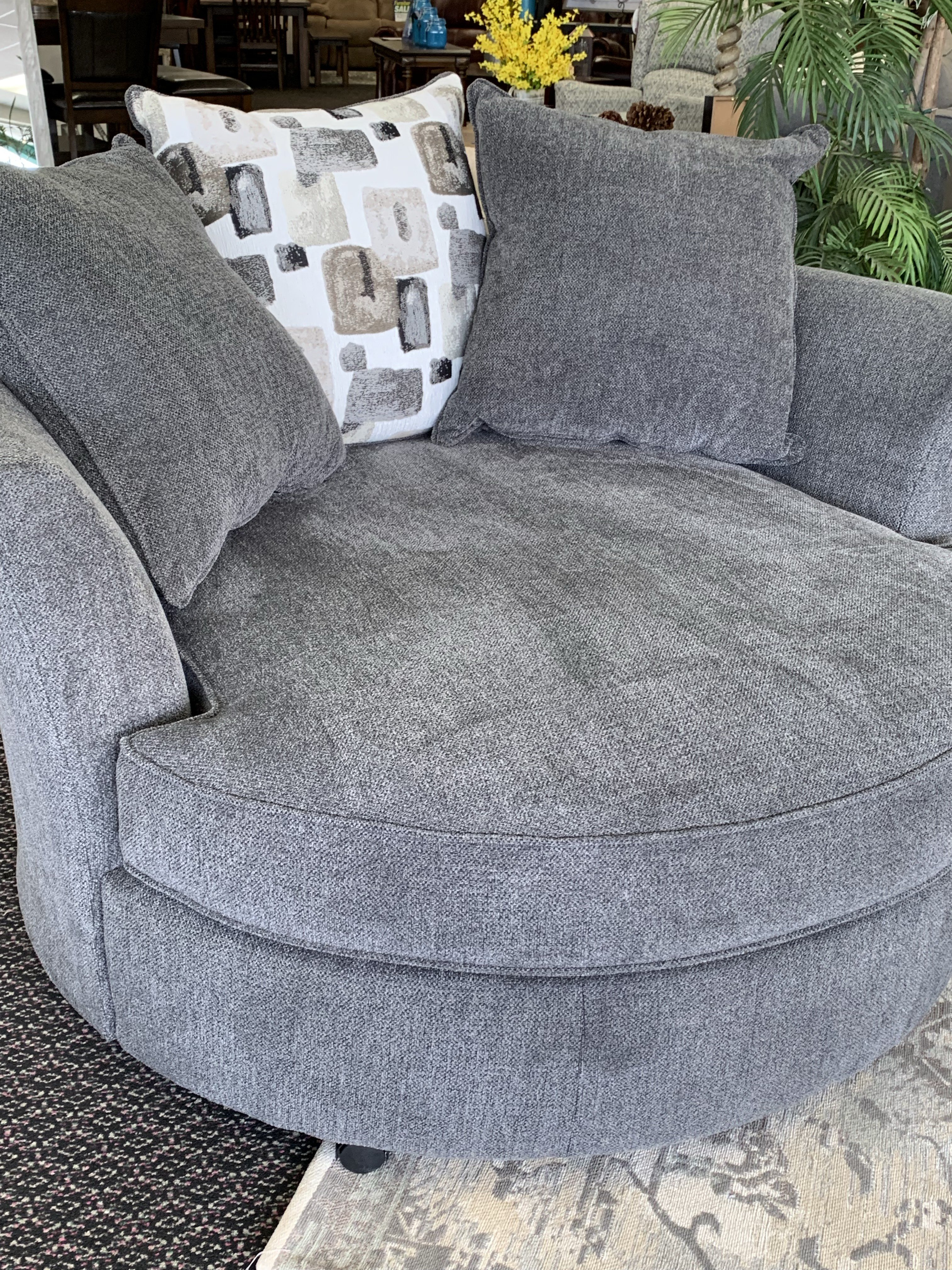 2240 Swivel Chair in Anchor Surge Huge Fabric $599
