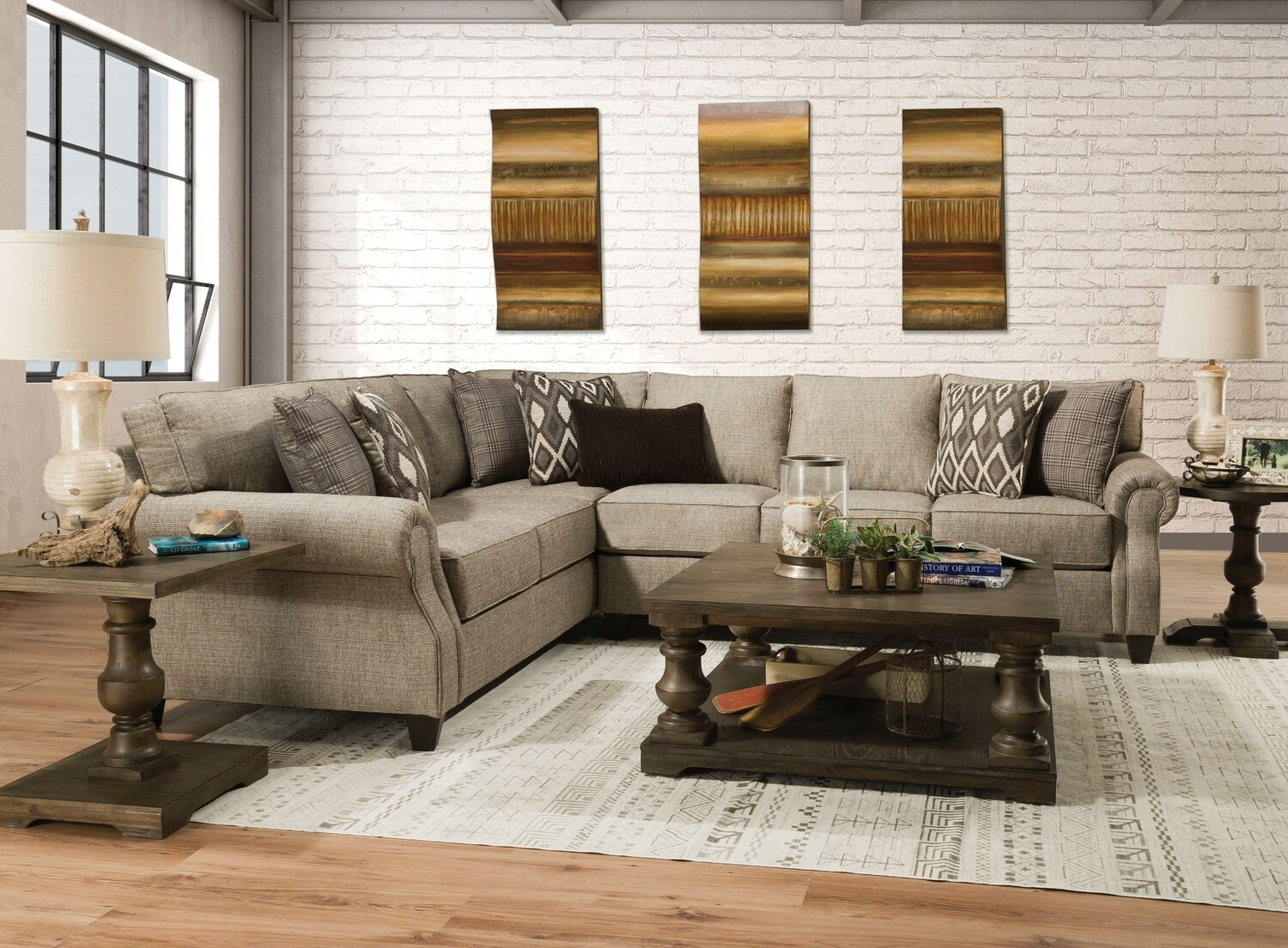 8010 2 Pc Sectional in O'Connor Clove $1089