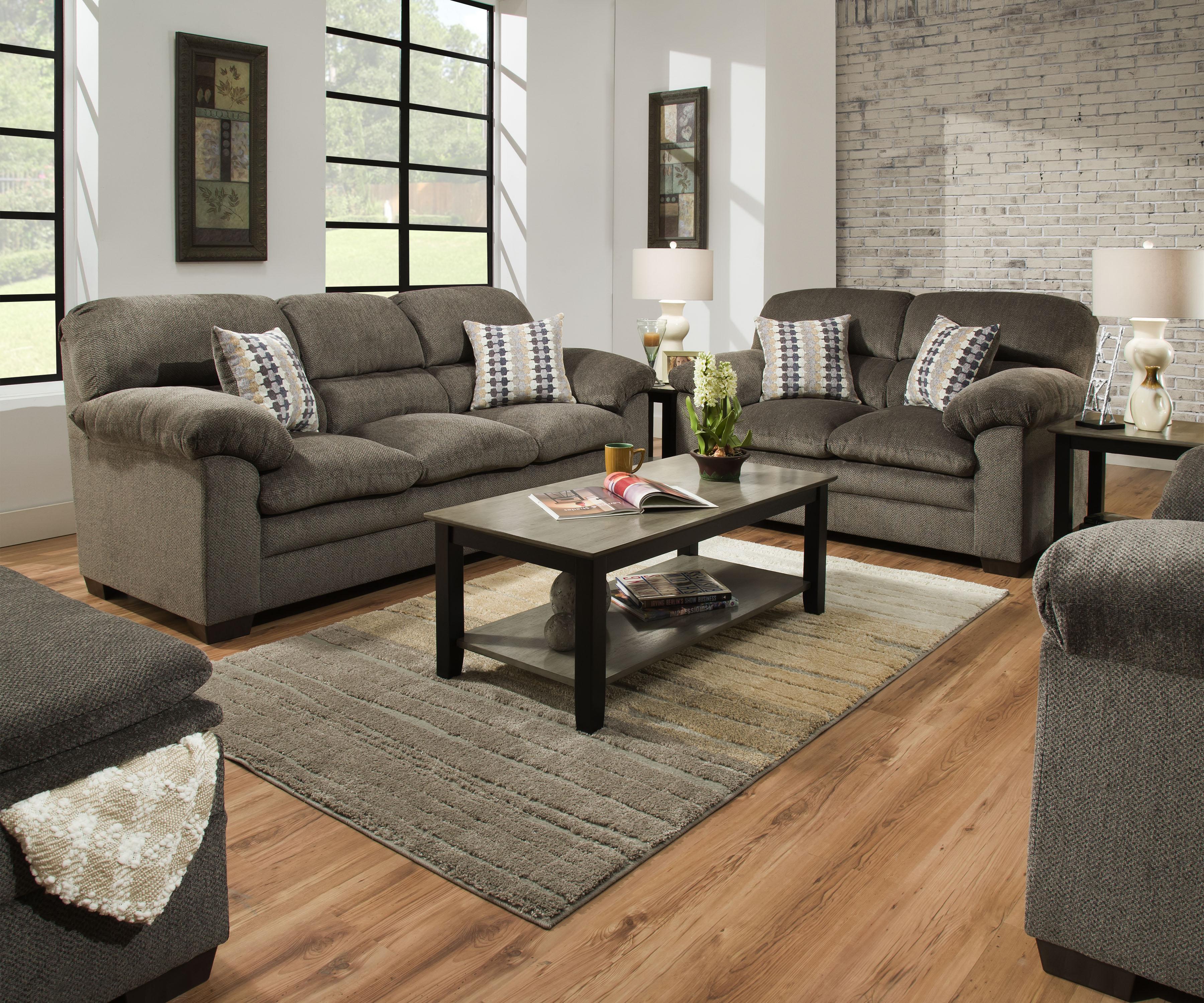 3683 Sofa and Loveseat in Harlow Ash $799
