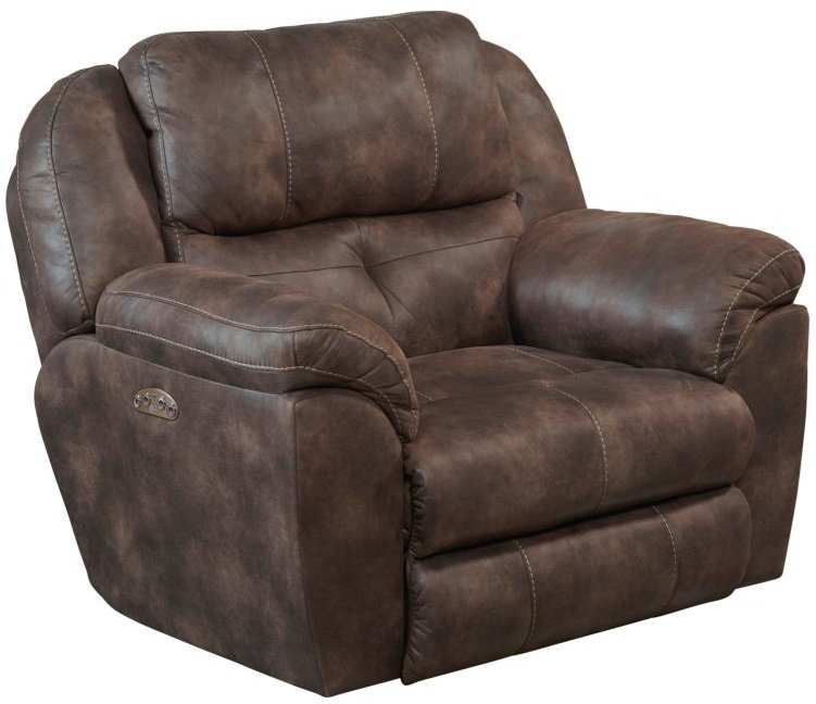 189 Power Seat and Power Headrest Massive Big Man Recliner in Dusk Brown Color $699