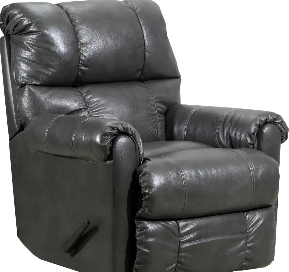 4208 Leather Touch Rocker Recliner in Soft Touch Gray $499