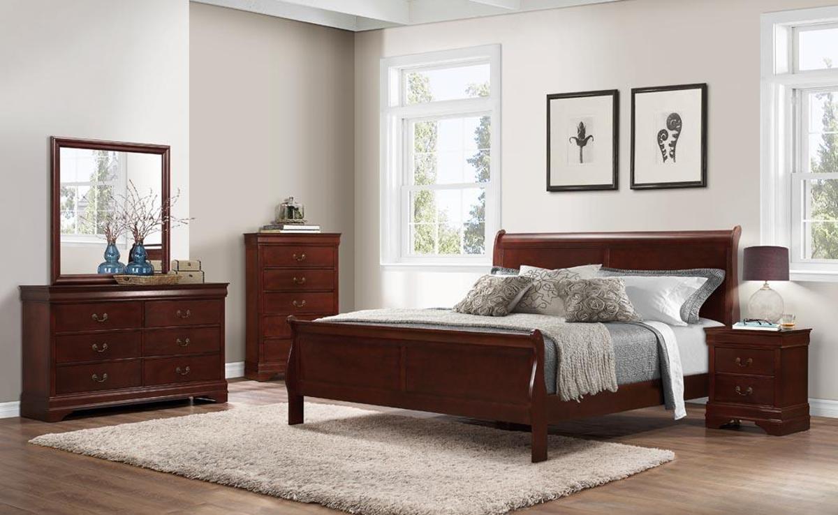 1230  Chablis Cherry Bedroom - 5PC Queen $795