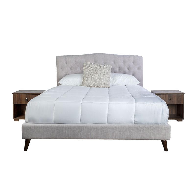 1180 Rachel 3-Piece Upholstered Bedroom Set w/ 2 Nightstands (King) $619.99