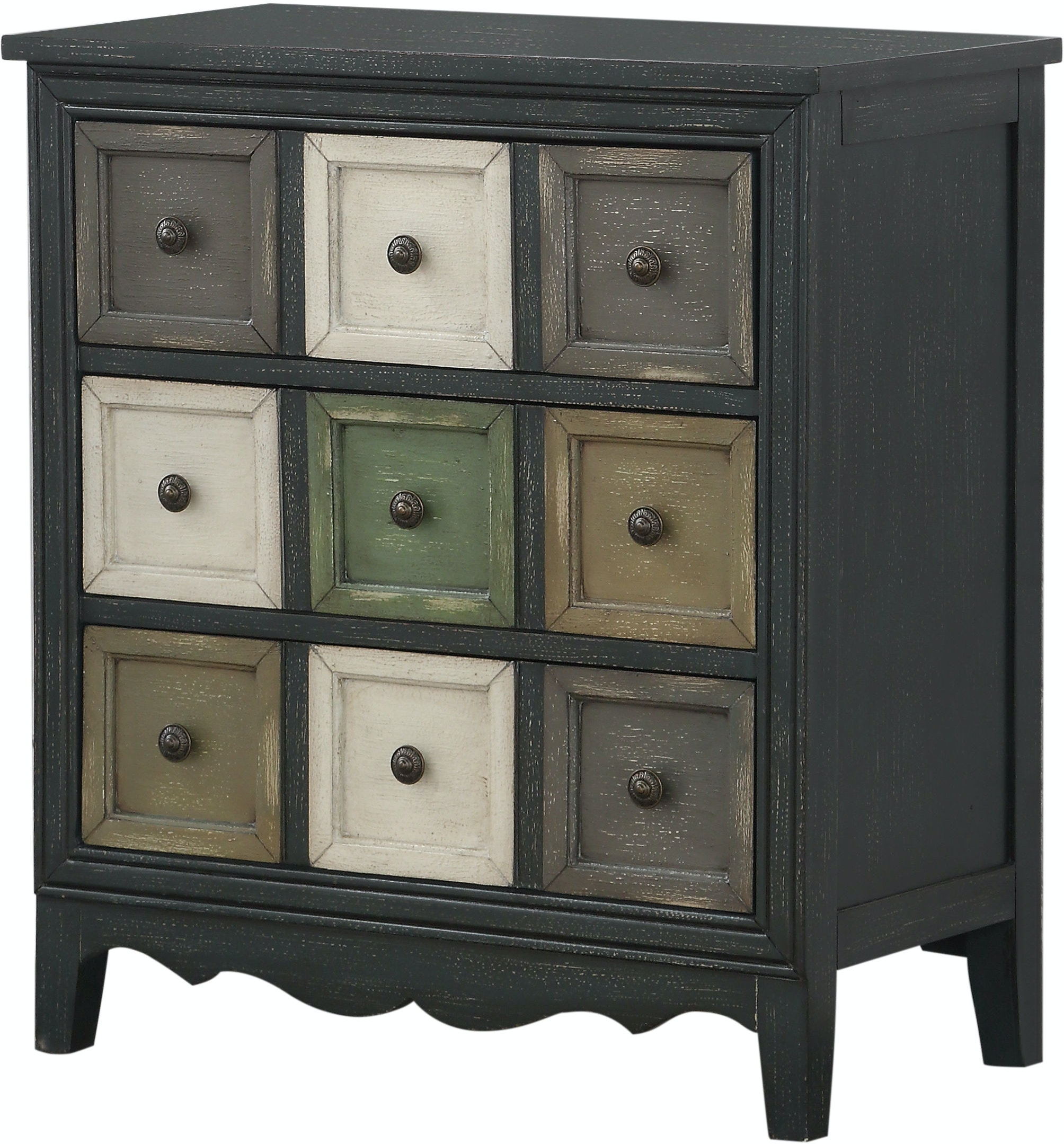 22616 Bakersfield Multi Color 3 Drawer Chest $349.99
