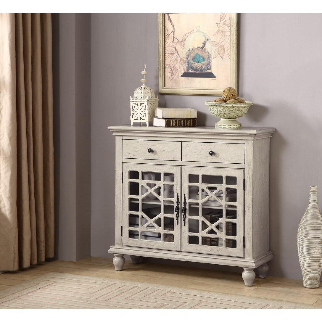 13708 Millstone Texture Ivory 2-Drawer 2-Door Cupboard $398