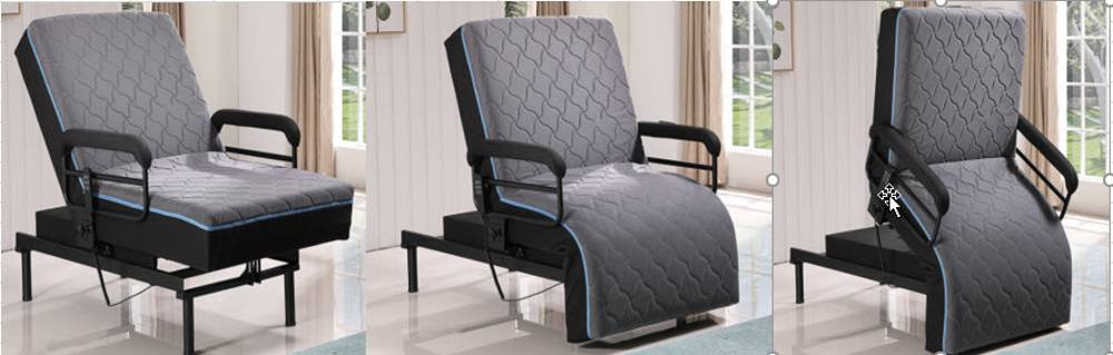 Ezy Out Lift Chair Adjustable Twin XL Bed With Padded Guard Rails and Twin $999.99